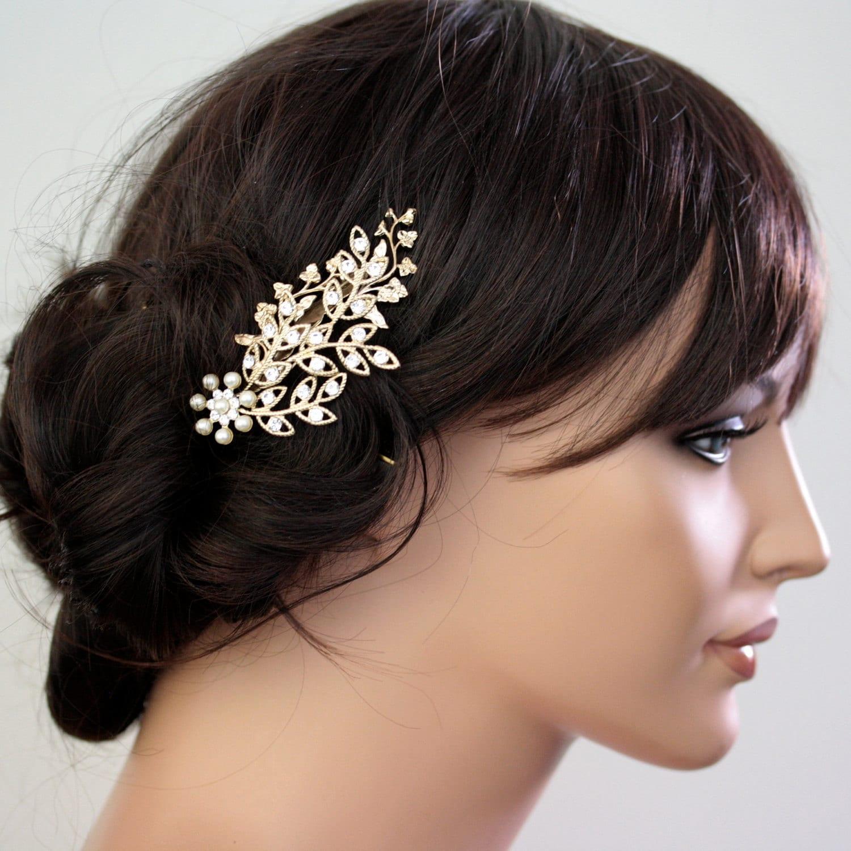 bridal hair accessories canberra: floral wedding hair vine serena