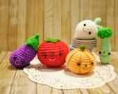 Amigurumi : The Happy Veggie Family