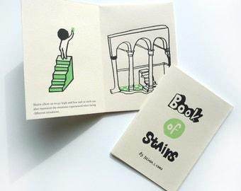 Hand printed zine- Book of Stairs