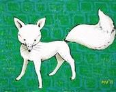 The White Fox- Print 8x10