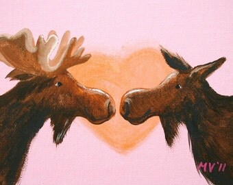 I Love My Moose PRINT- 8x10
