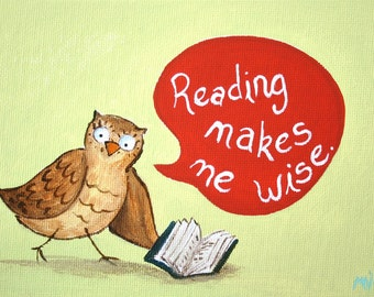 Reading Makes Me Wise PRINT