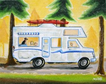 """Camping art, Take Me Camping Print 8x10"""" , art for kids, baby"""