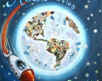 Hawk Circles the Earth- PRINT