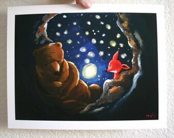 """Star Night Moon Bright - PRINT 8x10"""""""