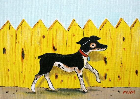 Happy Yellow Fence- PRINT
