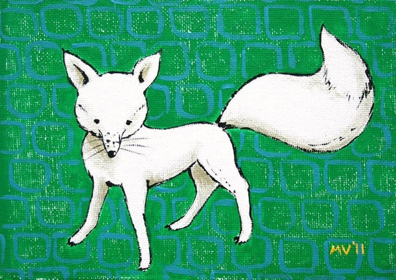 The White Fox- Print 8x10