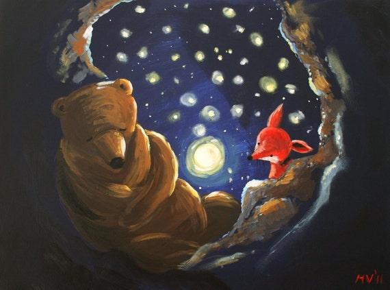Star Night Moon Bright - PRINT
