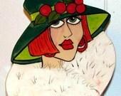 Ceramic Tile Wall Art Redheaded FACE TRIVET on Etsy