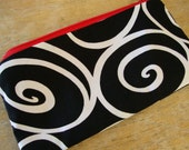 FULL Size-LOW SHIP-Modern Swirl Zipper Pouch