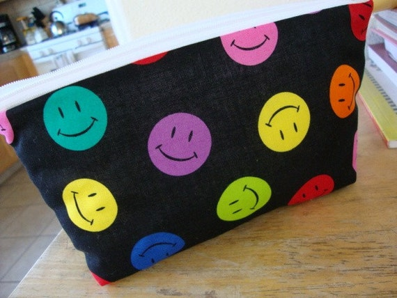 1/2 OFF-SALE-sale-SALE Happy Faces Makeup Bag