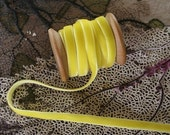 3 Yards Bright Yellow Velvet Ribbon 1/4 Inch Wide .25 Inch Wide
