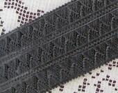 Dresden Trim Germany Fancy Black Foil Pennant Point Trim  DFW 220 BLK