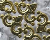 Dresden Trim Made In Germany 24 Gold Foil Dresden Fleur De Lis Swirls