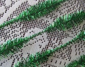 32 Vintage Bumpy Tinsel Sticks Stems In Metallic Green Old Store Stock