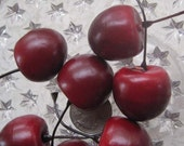 26 Faux Cherries For Making Millinery Topiary Glittered Fruit