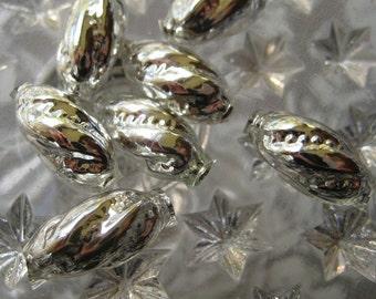 Mercury Glass Beads 7 Fancy Christmas Garland Beads Handmade In Czech Republic  008