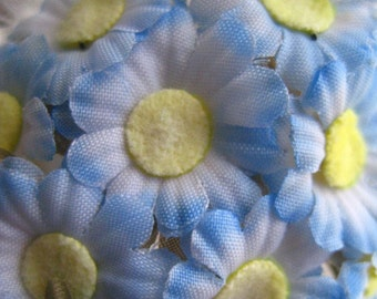 12 Fabric Millinery Daisies For Weddings And Crafts