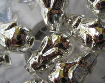 Mercury Glass Beads 8 Fancy Christmas Garland Beads Handmade In Czech Republic  019 S