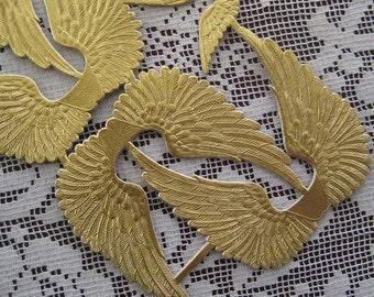 Made In Germany Gold Dresden Die Cut Angel Wings
