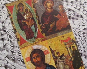 Prayer Cards Made In Italy 4 Holy Prayer Cards Of Jesus And Mary  Sheet I