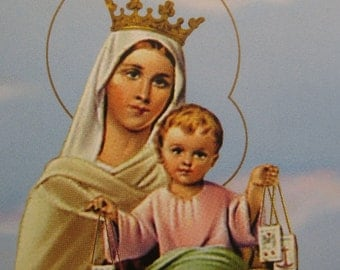 Made In Italy 4 Holy Prayer Cards Of Jesus And Mary  Sheet N