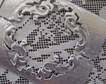 Dresden Trim Made In Germany Silver Fancy Embellishments For Crafting And Scrapbooking