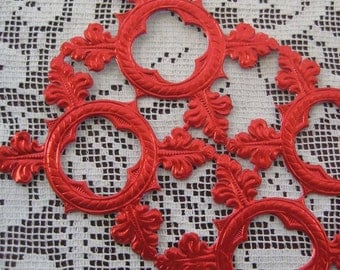 Dresden Trims Made In Germany Red Fancy Die Cut Embellishments