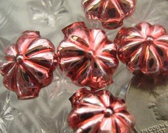 7 Glass Garland Beads Christmas Garland Pink Flower Beads Czech Republic  013 P