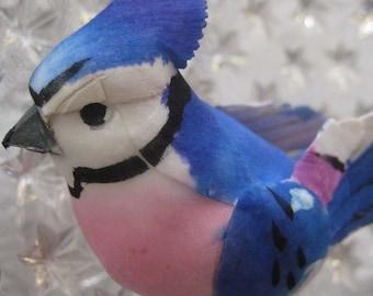Blue Jay Bird 4.5 Inch Fiber Bird