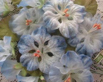 Vintage Millinery Flowers Velvet And Organza Nasturtiums Made In Japan 1950s Hat Making