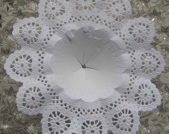 Large Bouquet Holders 2 Germany Fancy White Paper Lace Wedding Bouquet Holders 7-1/2 Inch