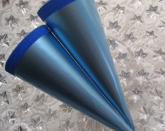 2 Metallic Paper Cones From Germany For You To Decorate