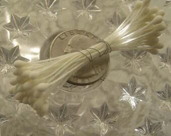 Millinery Flower Stamen Czech Republic Flower Peps 36 Stems White  A-1
