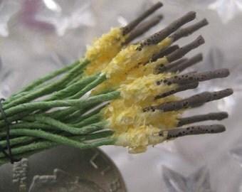 Millinery Flower Stamen Made In Germany Fuzzy Flower Peps 24 Stems  MNG 002