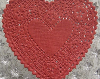 20 Fancy Paper Lace Red Doilies Doily Made In USA