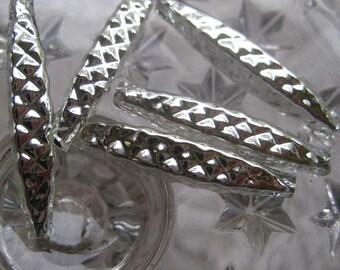 5 Glass Garland Beads Silver Christmas Garland Beads Czech Republic  055 S