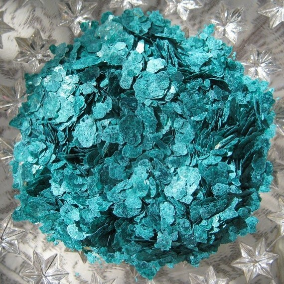 Natural Mica Flakes For Crafts In Assorted Colors 1 Oz Turquoise