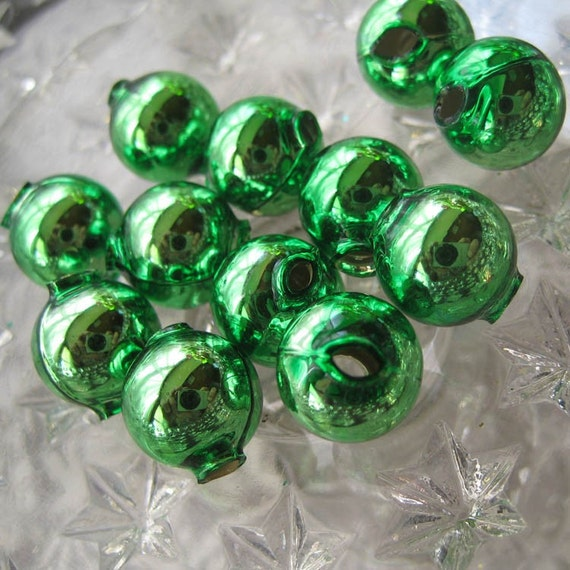 Czech republic handmade blown glass christmas garland beads