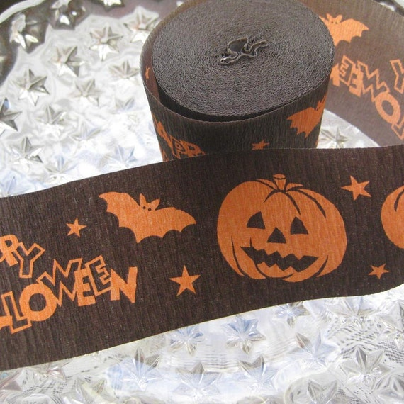 Halloween Made In Germany Crepe Paper Streamer Roll