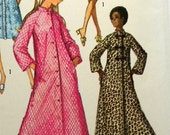 1970 Simplicity Vintage MISSES ROBE or DUSTER in Two Lengths  Pattern 9074