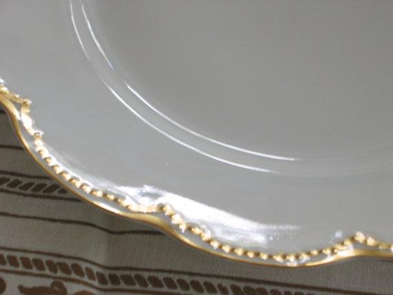 1880s HAVILAND LIMOGES Dinner PLATE Double Gold  Schleiger 22