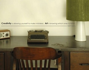 Creativity and art vinyl wall art quote decal sticker