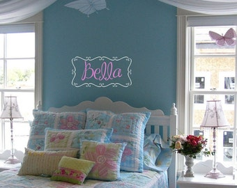 Personalized girls name wall decal