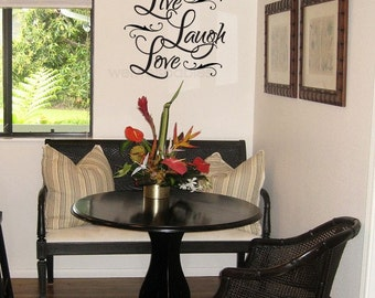 Live Love Laugh Wall Decal