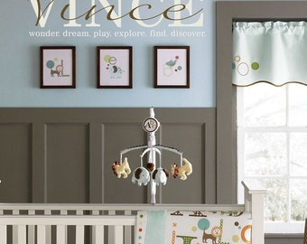 Child baby name wall decal
