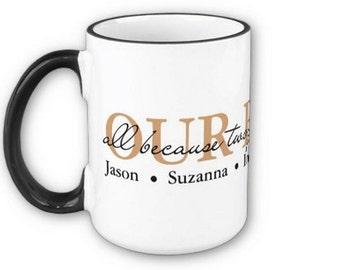 Custom Our Family w/names mug cup