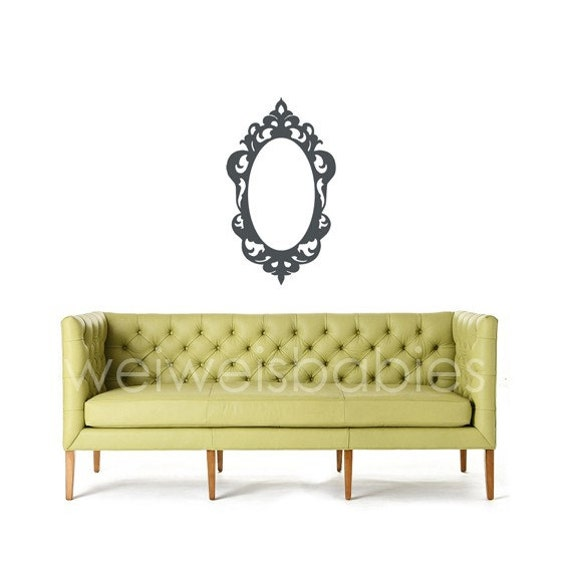 Baroque frame wall decal