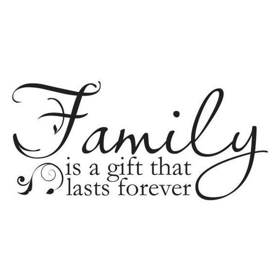 family is a gift that lasts forever vinyl wall decal. Black Bedroom Furniture Sets. Home Design Ideas