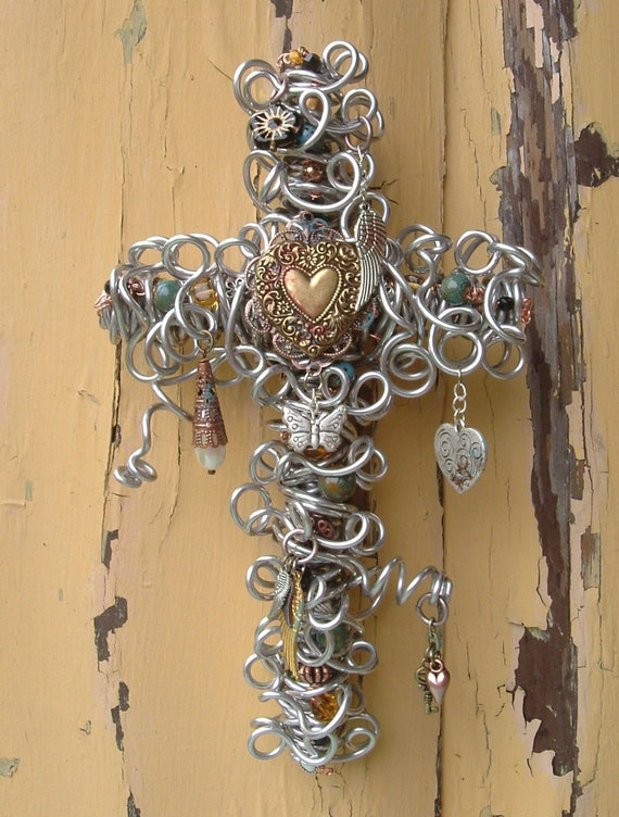 image cross silver metal charm christian faith